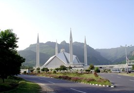 , located in , the capital city of , was built in . It is one of the largest mosques in Asia.