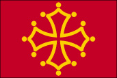 Coat of arms of the province of Languedoc, now being used as an official flag by the Midi-Pyr�nees region as well as by the city of Toulouse