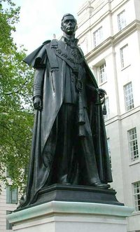 Statue of George VI at Carlton House Terrace, London