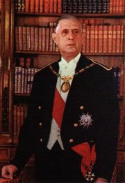,  (1958-1969), wearing the  as grand-master of the order.