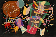 For the background of his last great composition, painted during WWII, Kandinsky selected black, the colour of death. (Kandinsky 1939)