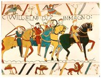 The Norman conquest of England, as depicted in the
