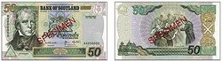 Bank of Scotland �50 note